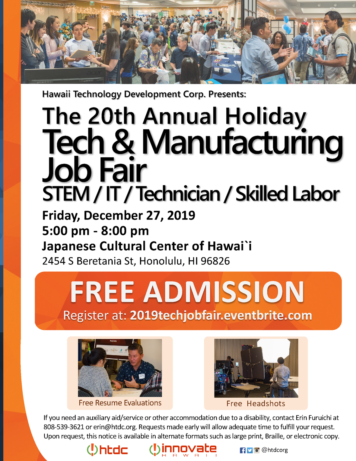 Holiday Tech and Manufacturing Job Fair Flyer