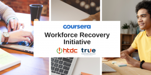 Banner for Coursera's Workforce Recovery Initiative Program