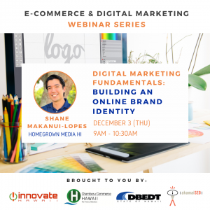 Eventbrite banner featuring Shane Makanui-Lopes from Homegrown Media HI