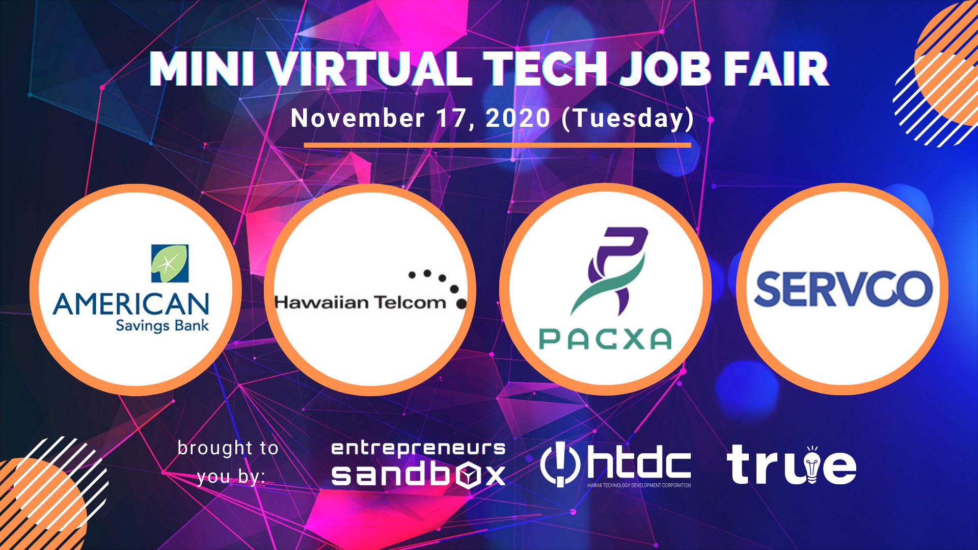 Banner for Virtual Tech Job Fair