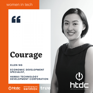 Women in Tech Banner featuring Ellen Ng of Hawaii Technology Development Corporation