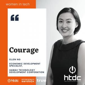Women in Tech Banner featuring Ellen Ng of Hawaii Technology Development Corporation