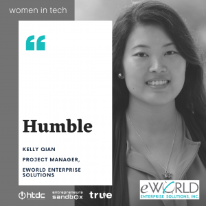 Visual featuring Kelly Qian of eWorld Enterprise Solutions