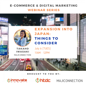 Guest speaker Takaho Iwasaki of Maji Connection speaks about Expansion Into Japan: Things To Consider